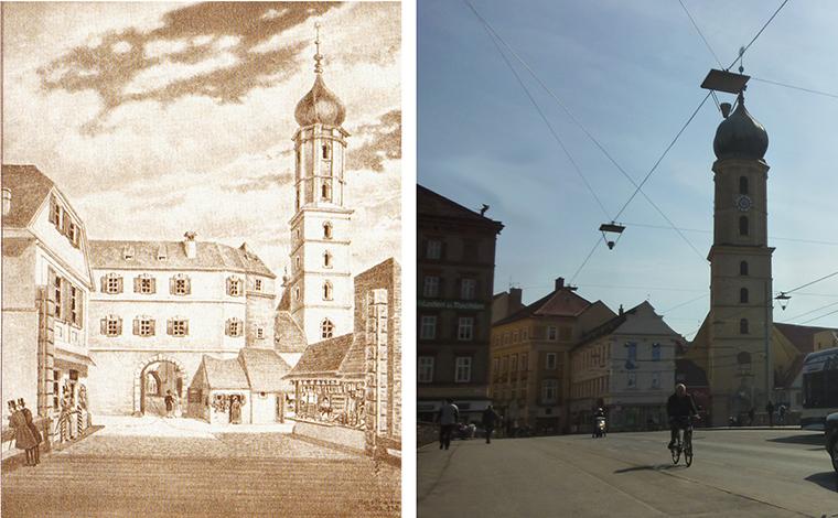 Blick auf Franziskanerkirche neu